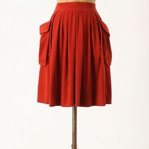 Anthro Maeve Effortless Corduroy Skirt